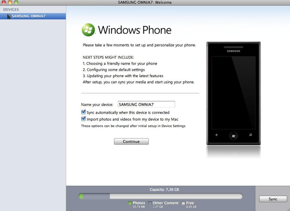 windows phone for mac free download