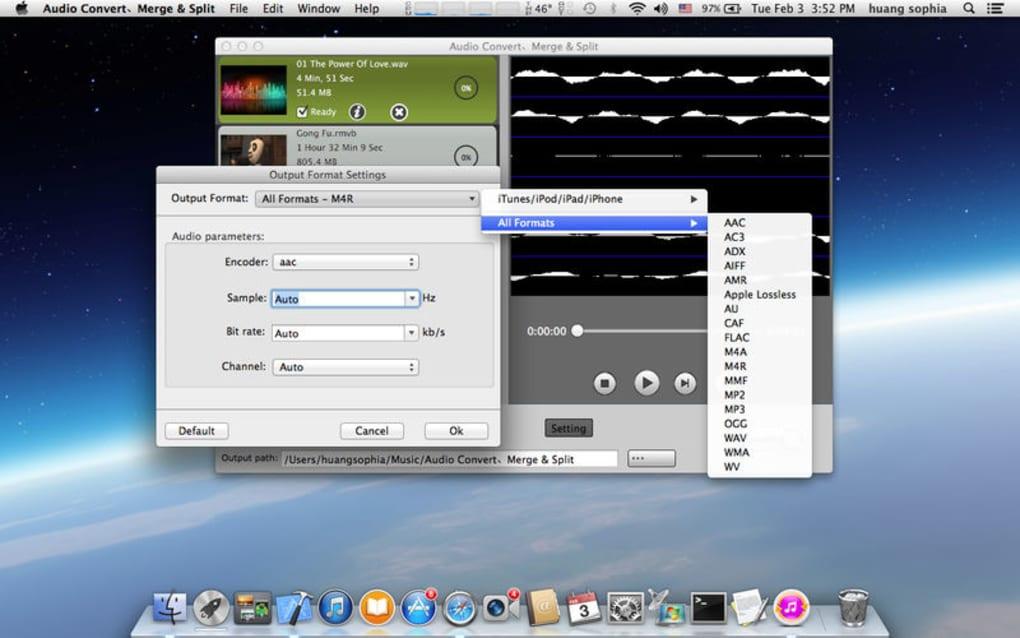 Audio Convert、Merge & Split for Mac - Download