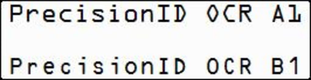 PrecisionID OCR-A and OCR-B Fonts - Download