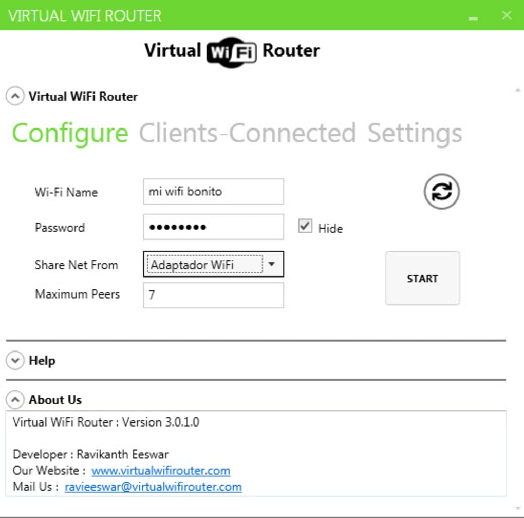 free download virtual wifi router latest version