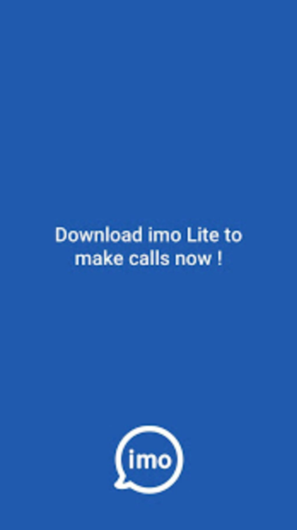 imo Lite - New2019 Superfast Free calls just 5MB for Android - Download