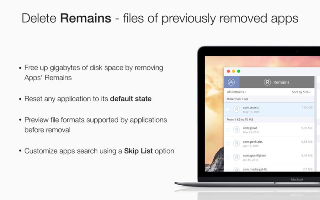 App Cleaner Find and Remove Applications for Mac - Download