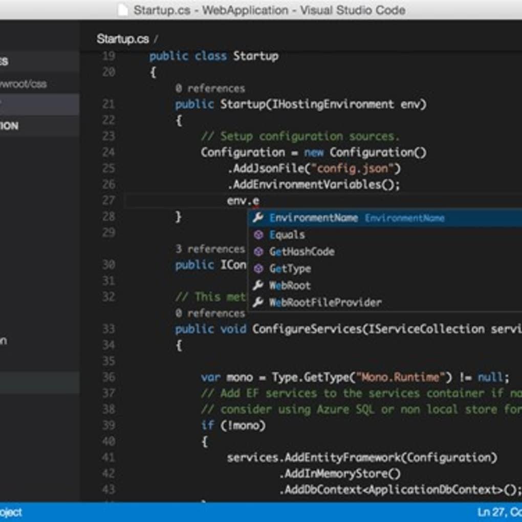 Visual Studio Code for Mac - Download