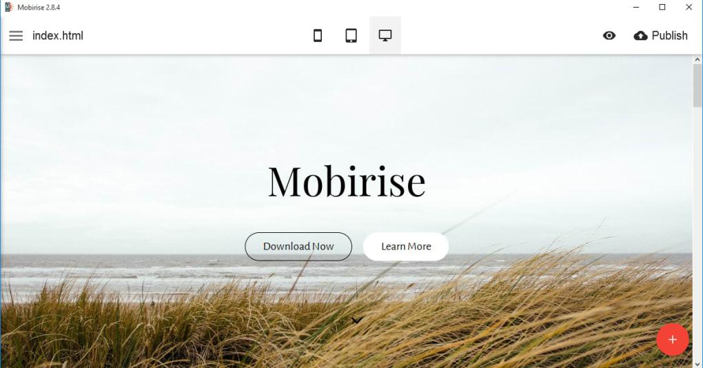 Mobirise mobile website builder - Download