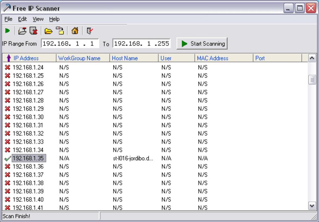 Free IP scanner - Download