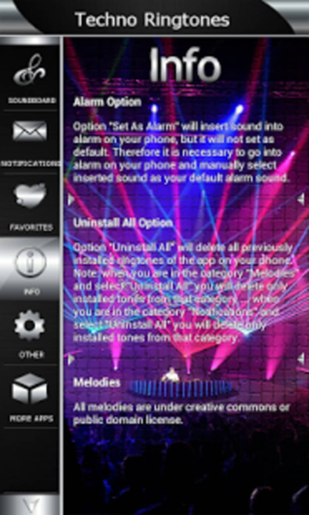 Techno Ringtones 1.2 Multimedia Androiddro