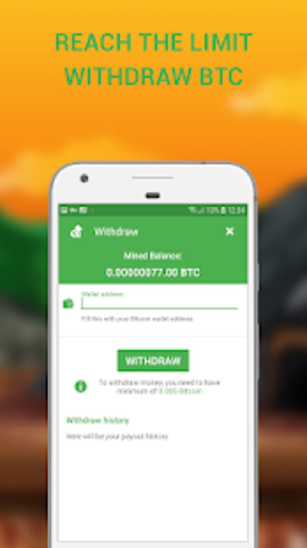 Cloud Bitcoin Miner Remote BTC Earnings for Android - Download