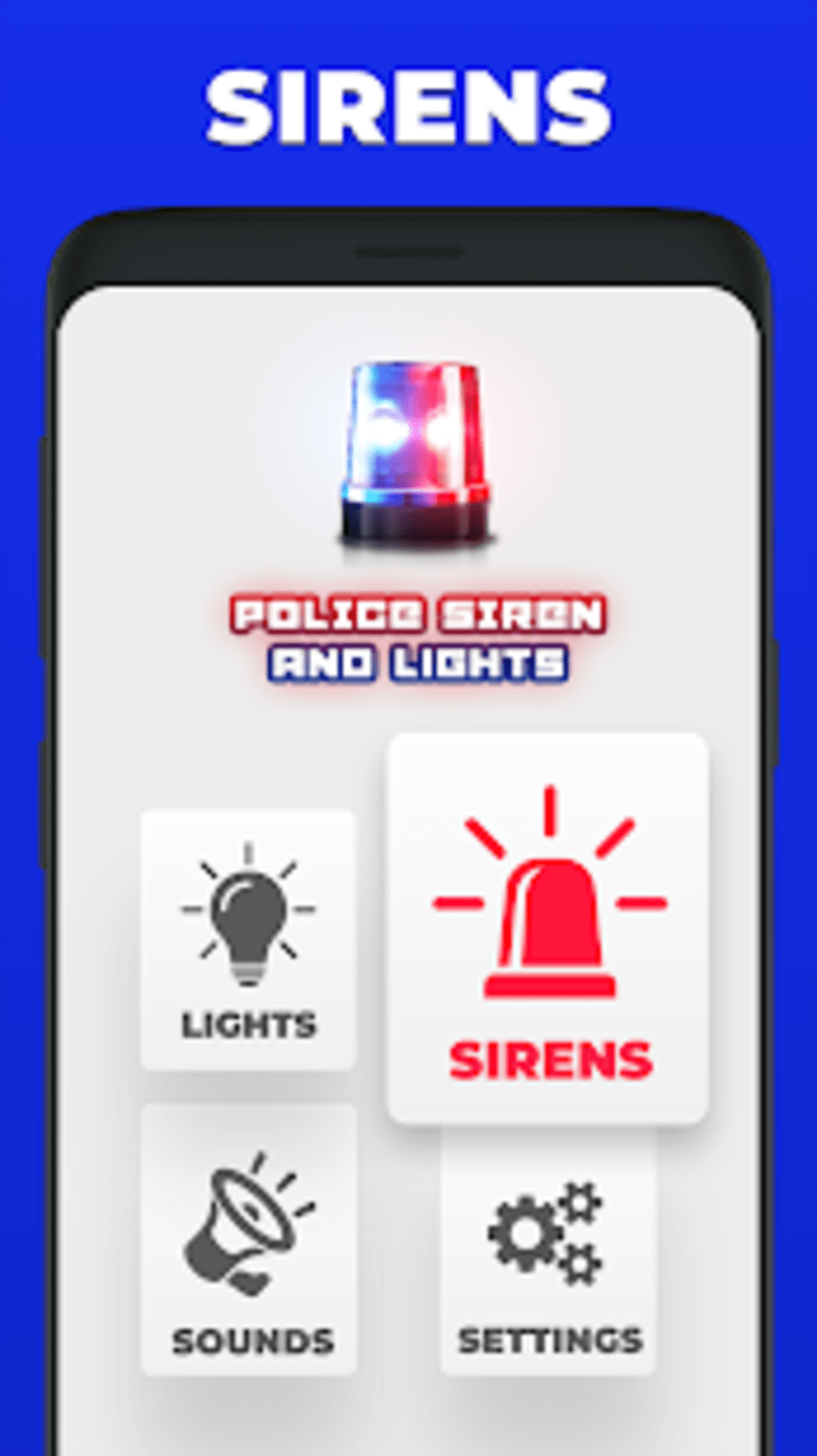Police Siren Lights Sounds 2019: Emergency Alert for Android