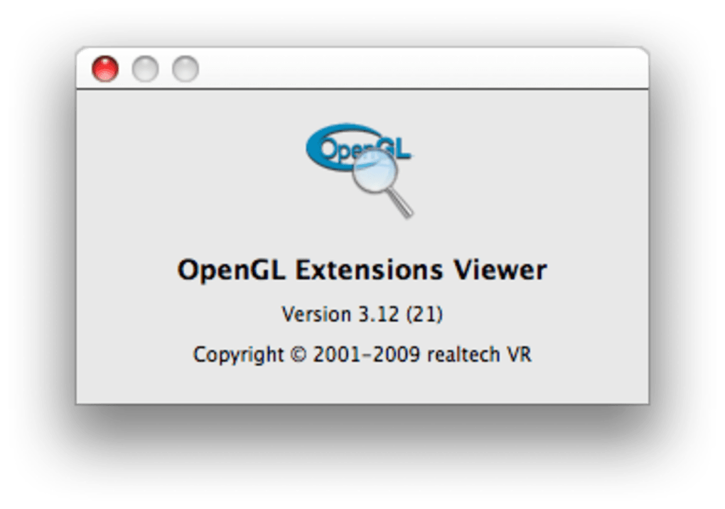OpenGL Extensions Viewer pour Mac - Télécharger