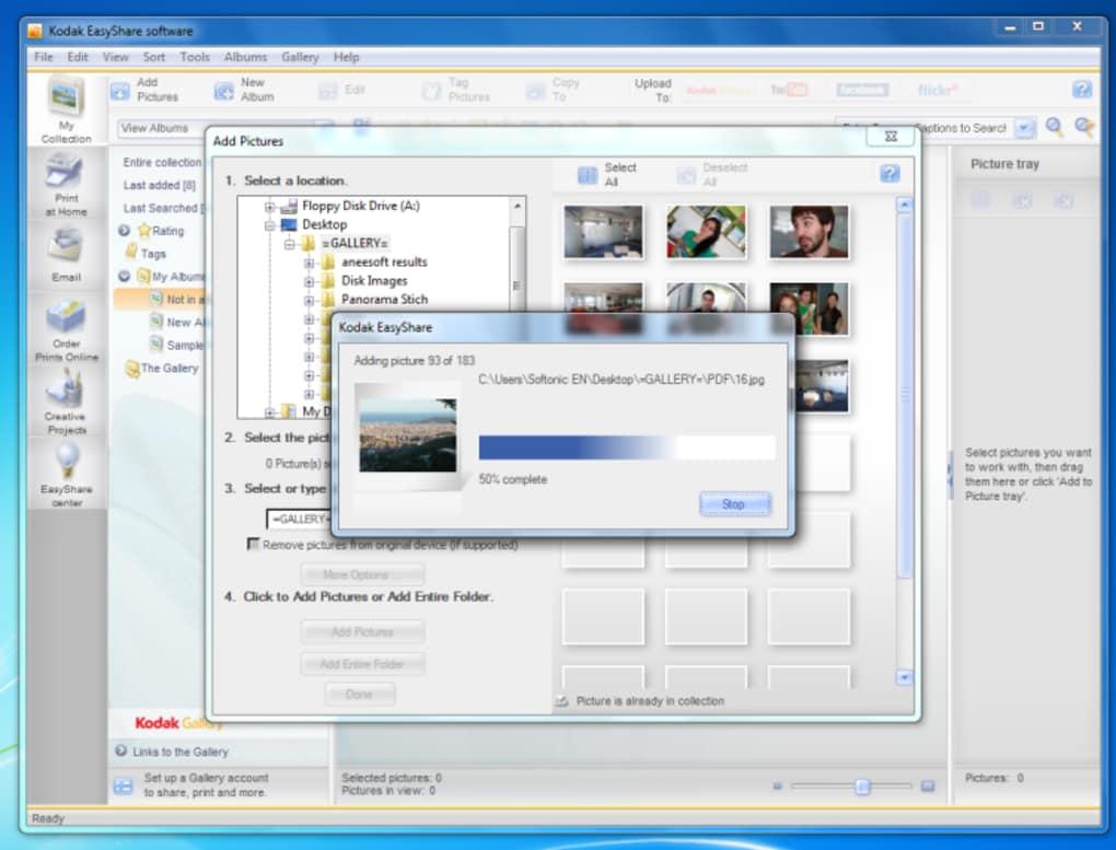 gratuitement logiciel kodak easyshare