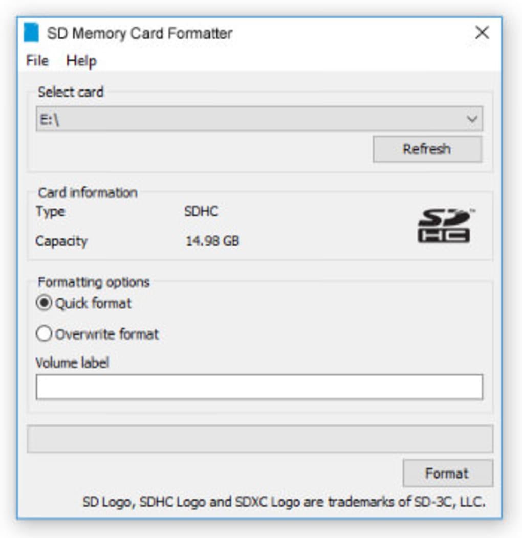 4.0 GRATUITEMENT SD/SDHC/SDXC FOR SD TÉLÉCHARGER FORMATTER