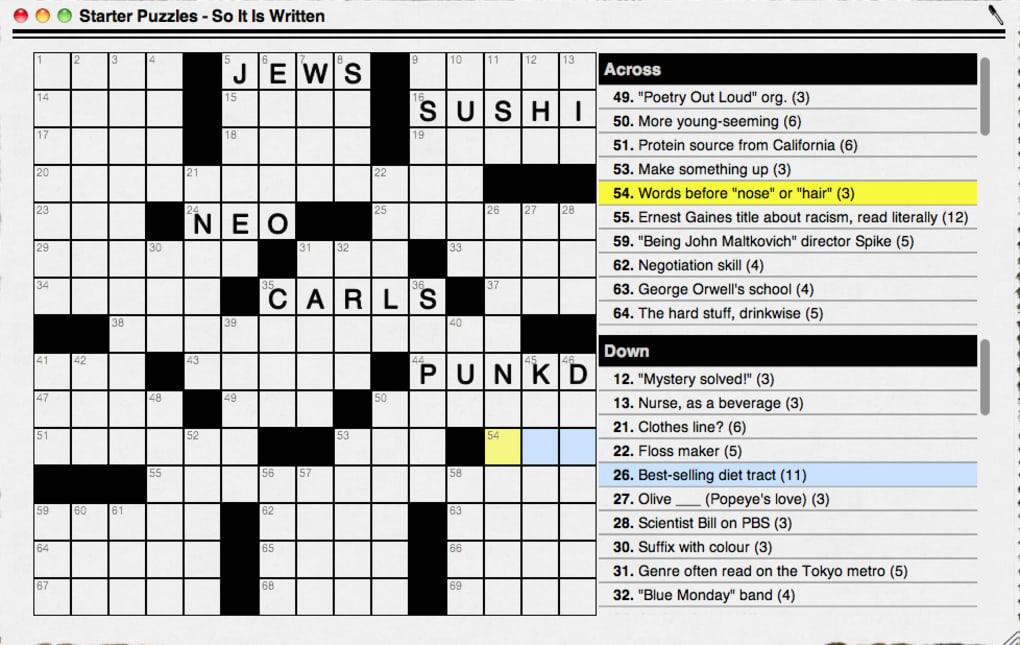 Offline Crossword Puzzles Free Download For Macbook Pro