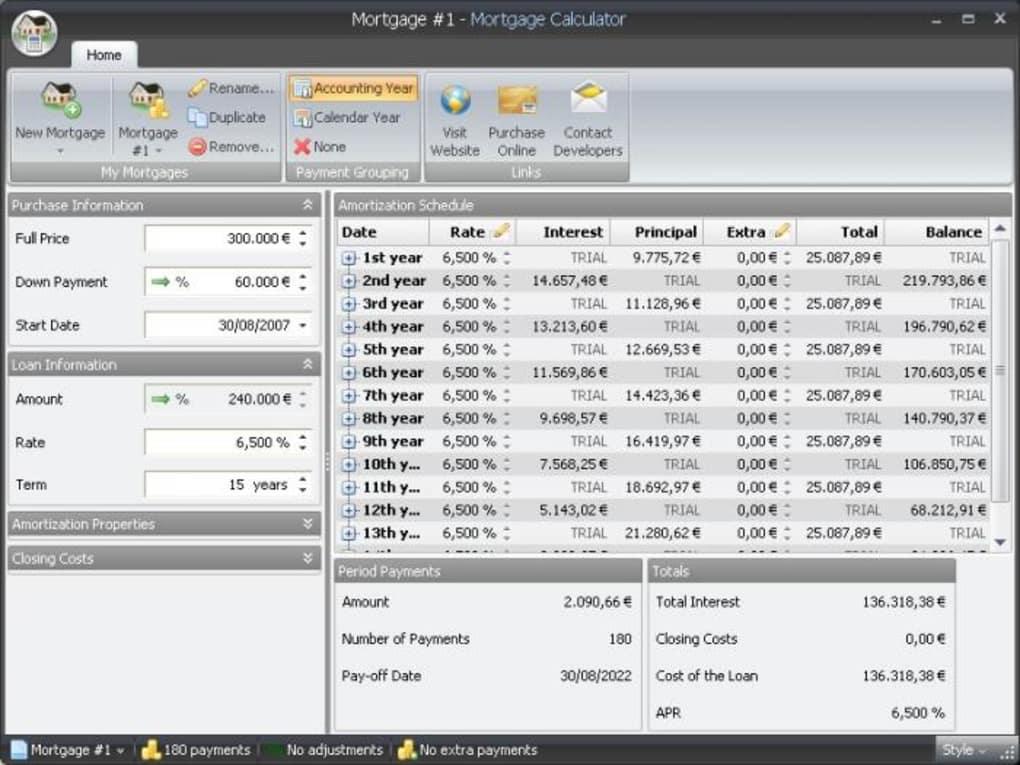 loan and mortgage calculator
