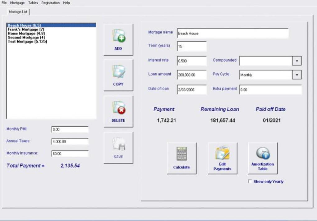 mortgage and loan calculator analyzer