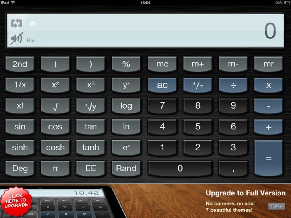 calcolatrice su ipad