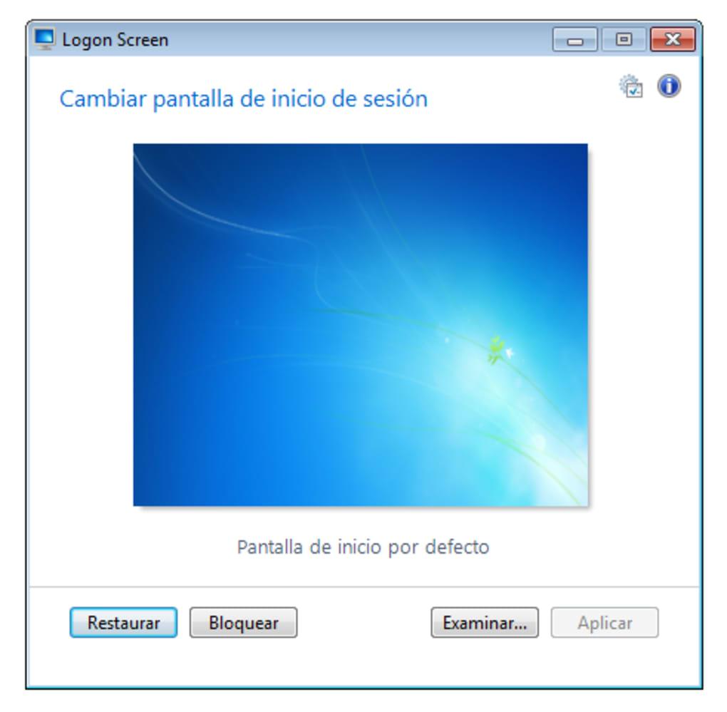 download logon screen windows 7