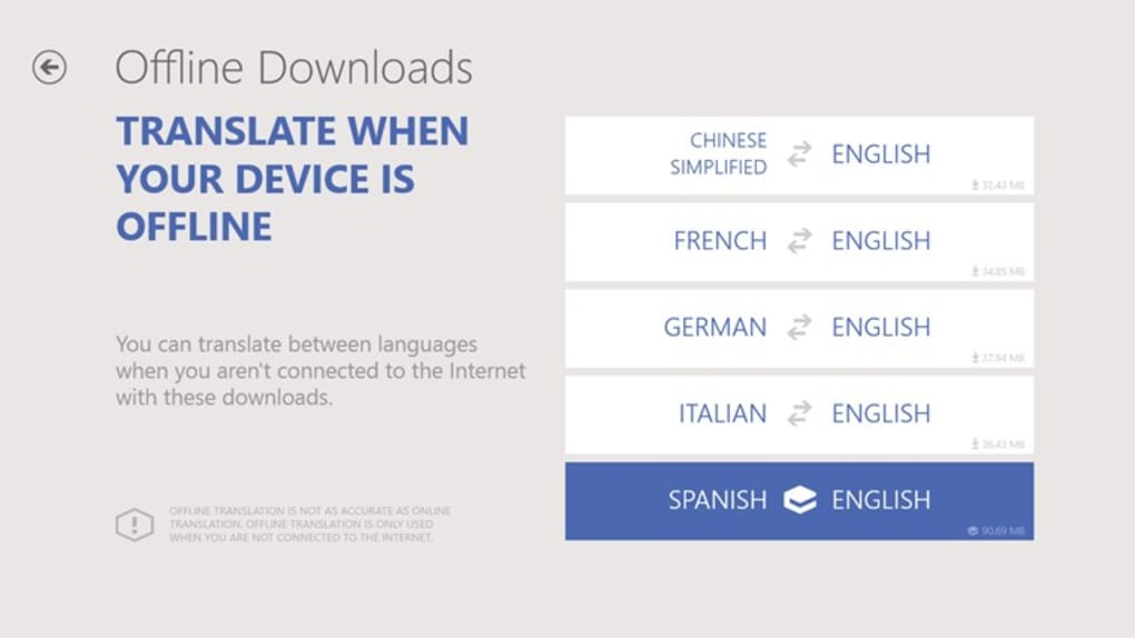 Offline translator free download.