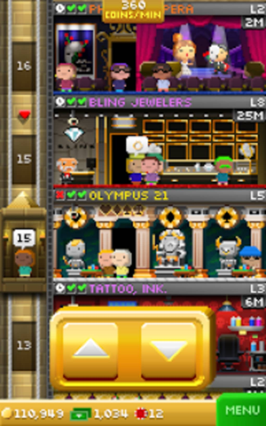 Tiny Tower Vegas for Android - Download
