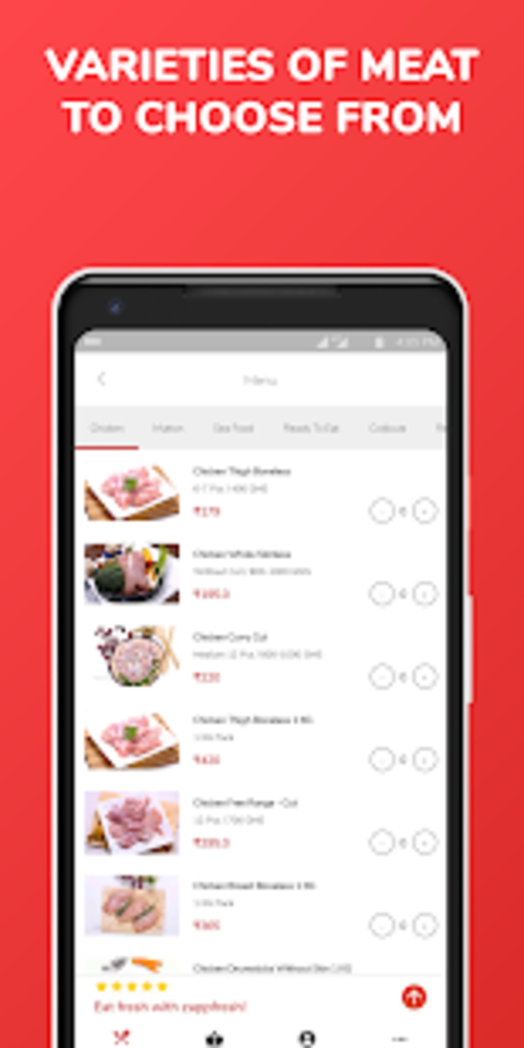 Raw Chicken Mutton SeaFood Meat Ordering App for Android - Download