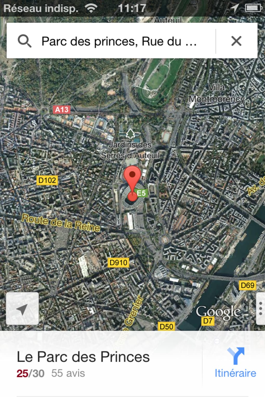 Google Maps pour iPhone - Télécharger