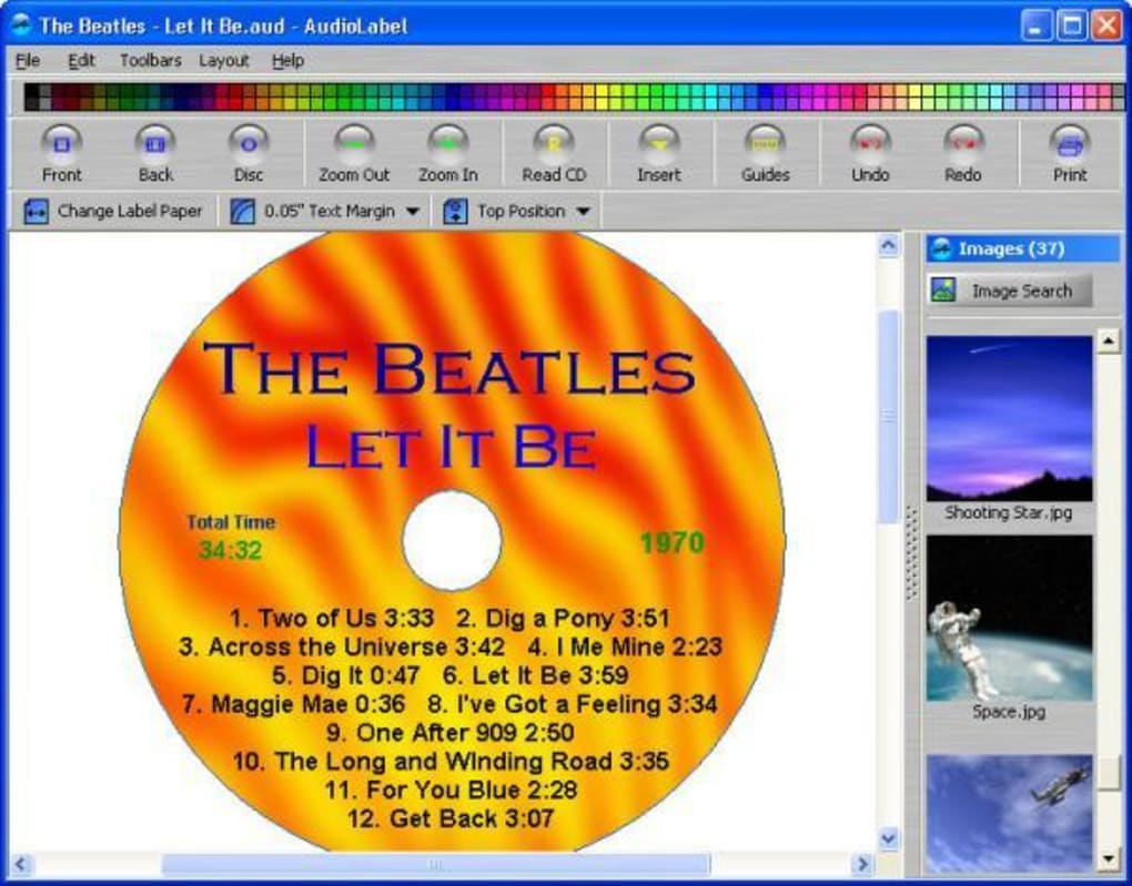 Make Printable CD/DVD Labels Covers and Box Inserts