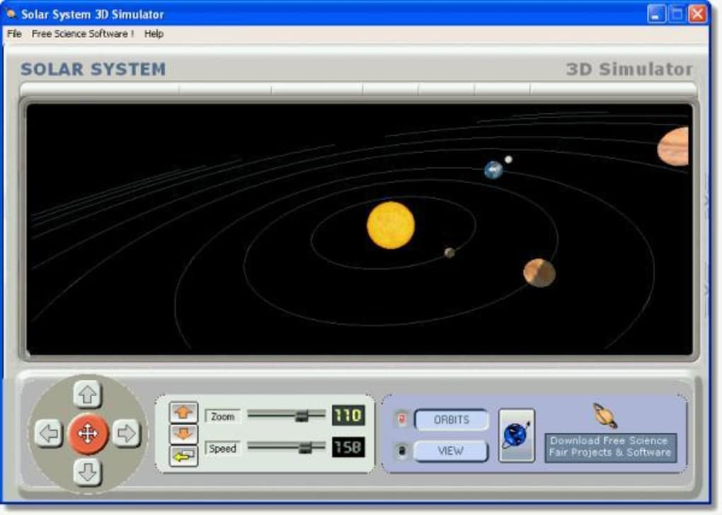Solar system 3d simulator download for Simulatore 3d