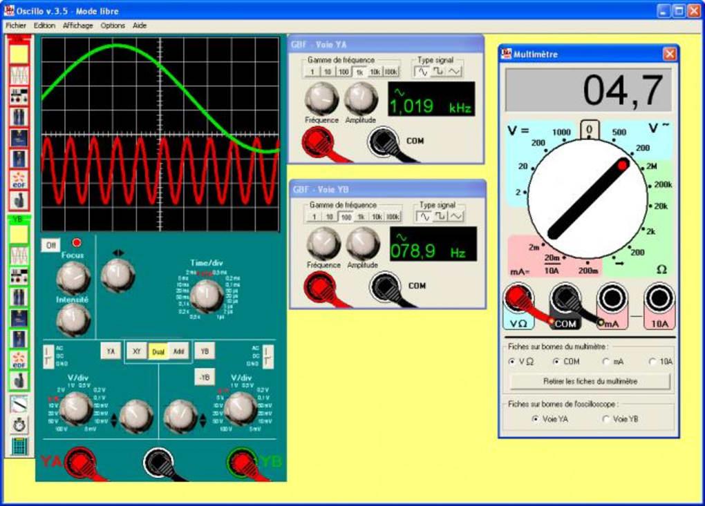 oscilloscope virtuel gratuit