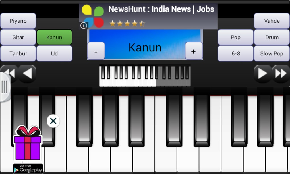 Portable Piano Guitar Qanun for Android - Download