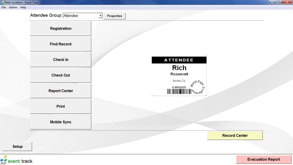 Event Track Free Event Registration Software - Download