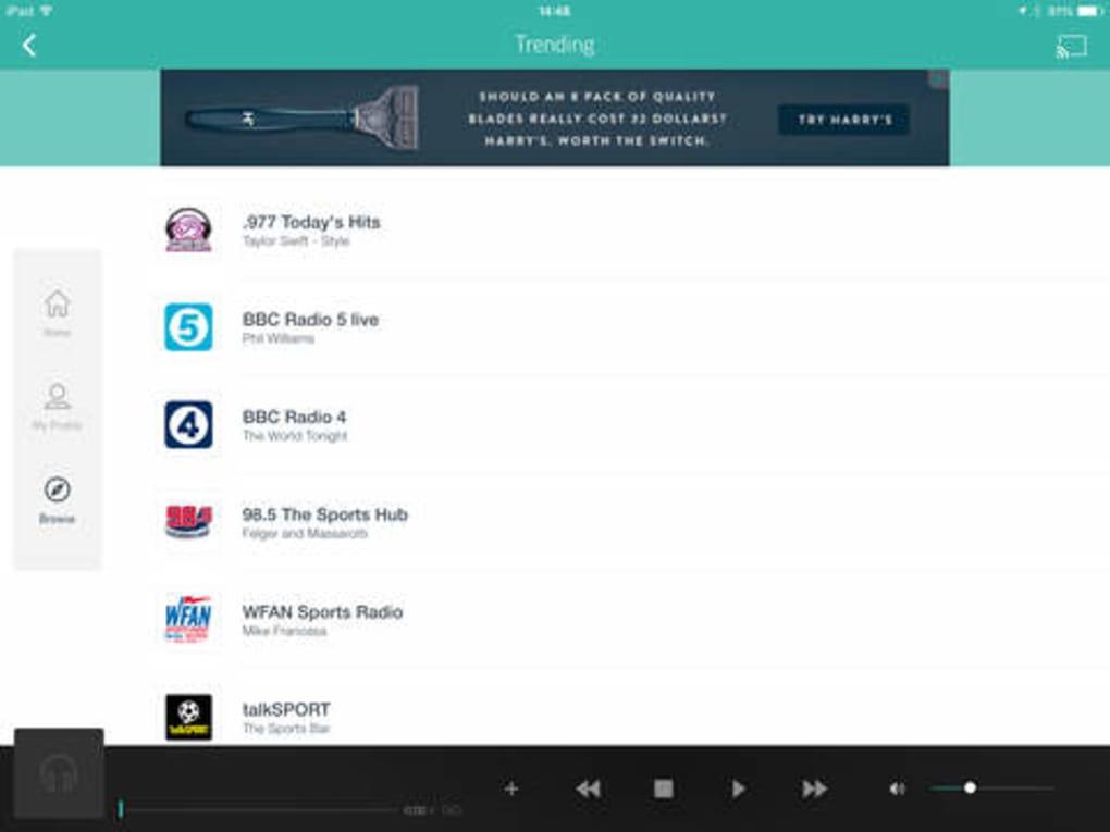 TuneIn Radio para iPhone - Descargar