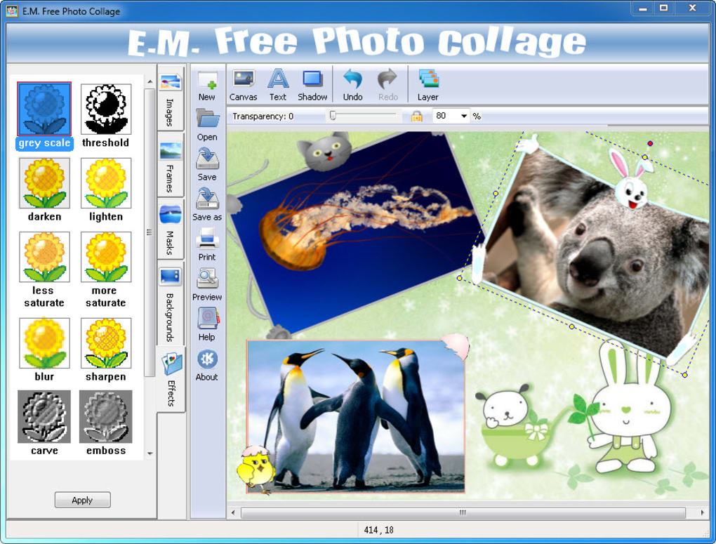 Free Photo Collage Software Picture Collage
