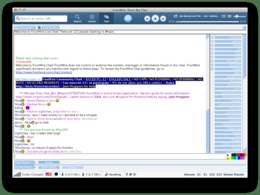 frostwire pour mac os x 10.4.11