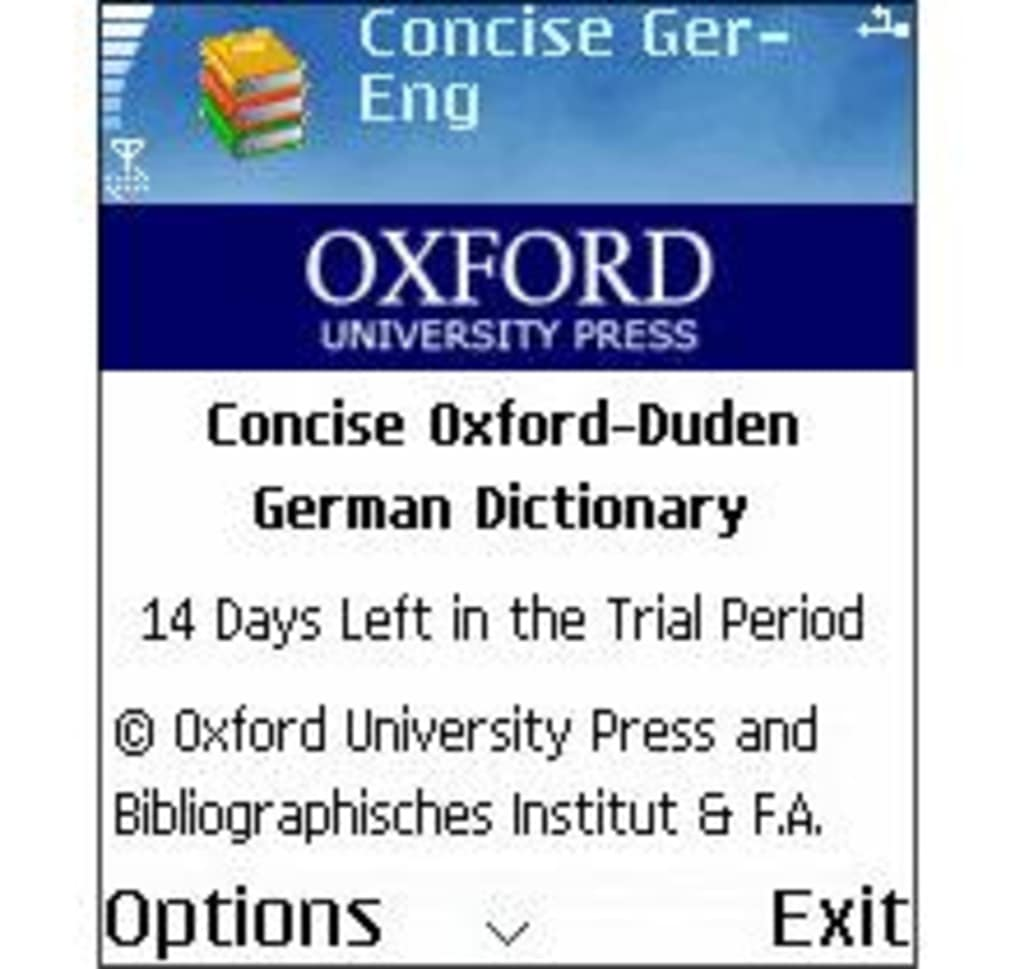 ... Concise Oxford-Duden German Dictionary