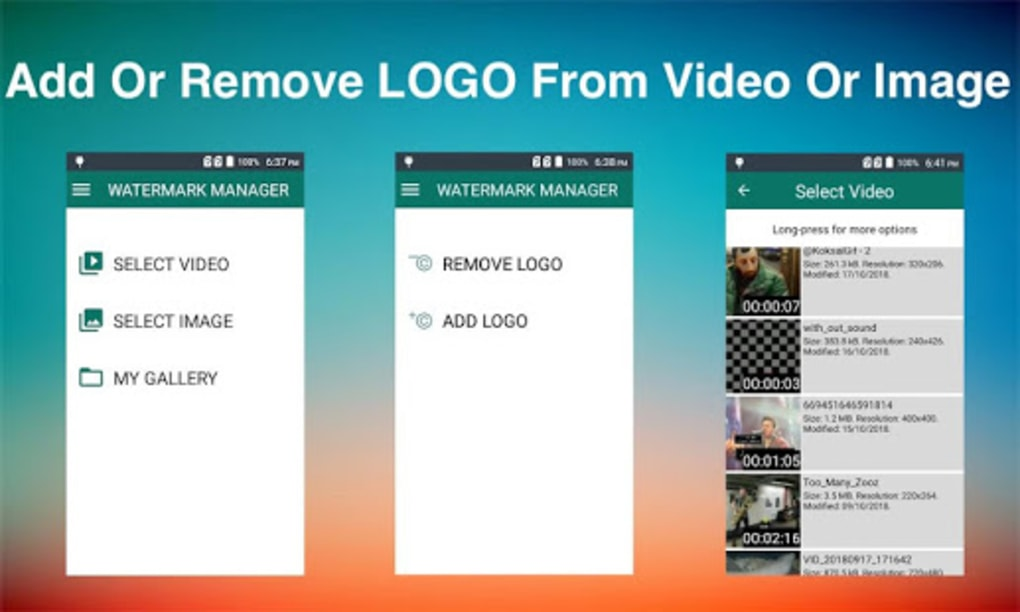 how to remove logo from video android