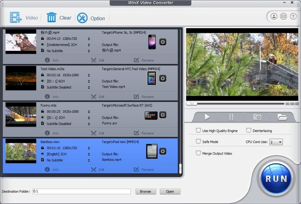 WinX Video Converter - Download
