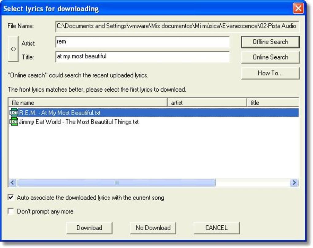 Minilyrics Untuk Windows Unduh