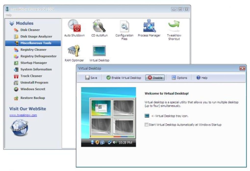 Tweaknow powerpack: a complete tweaking program for windows.