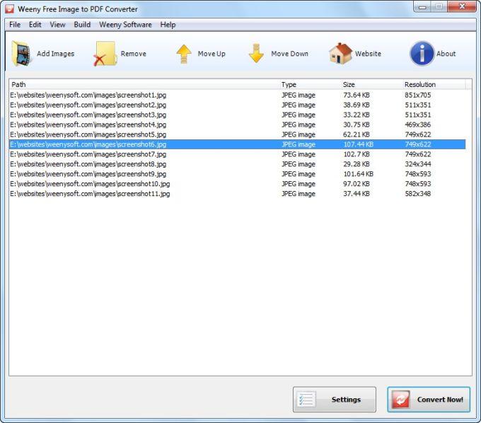 Weeny Free Image to PDF Converter Download