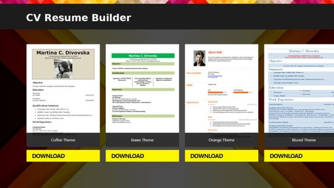 CV Resume Builder Download