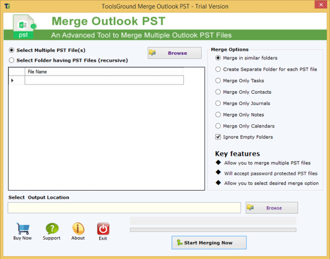 ToolsGround Merge Outlook PST