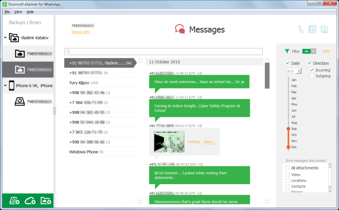 Elcomsoft eXplorer for WhatsApp