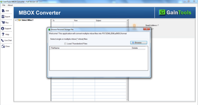 GainTools MBOX to PST Converter
