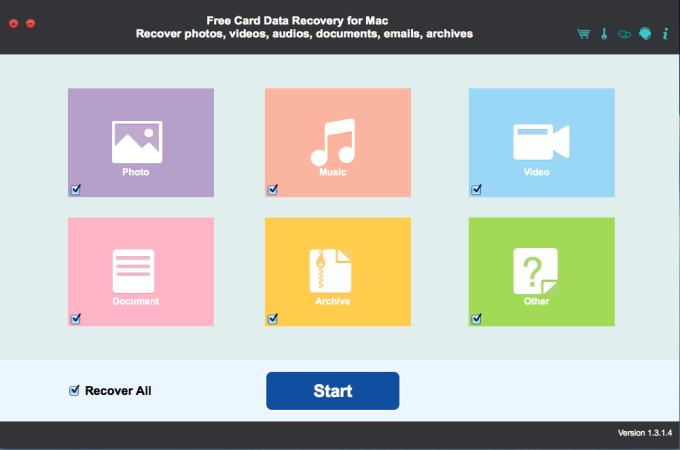 Free Card Data Recovery for Mac