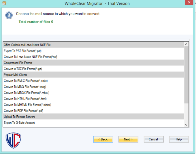WholeClear EML to TGZ Converter