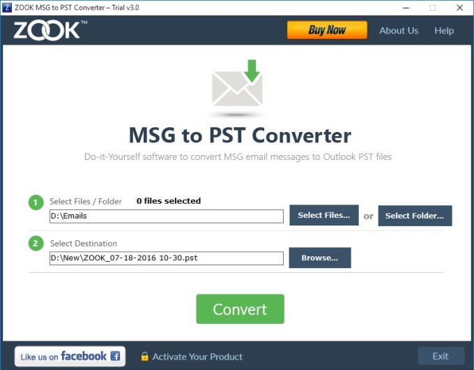 MSG to PST Converter