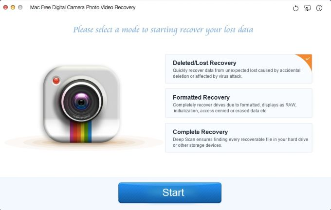 Free Digital Camera Photo Video Recovery