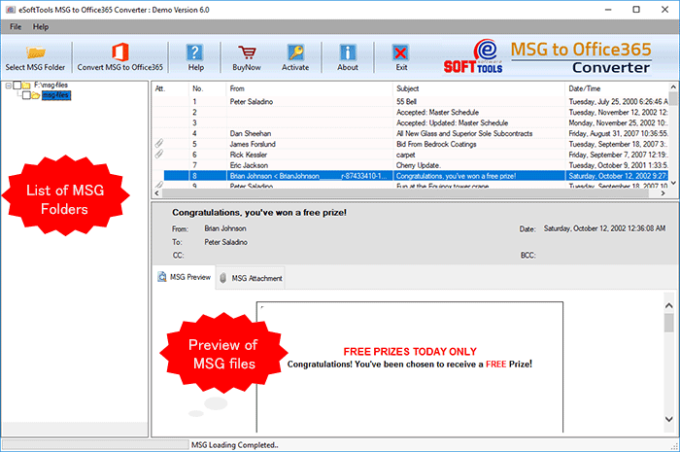 eSoftTools MSG to Office 365 Converter - Download