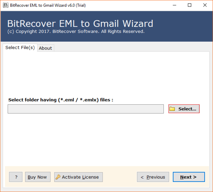 EML to Gmail Wizard