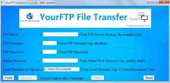 YourFTP File Transfer