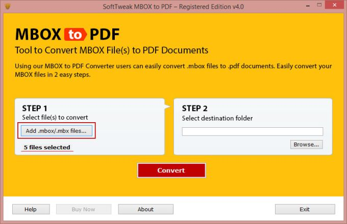 SoftTweak MBOX to PDF